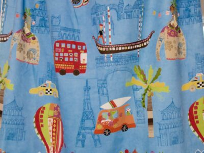 Children's bedroom curtains or play room