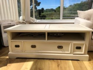 Large Tv /cabinet white solid wood