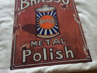 Metal Brasso sign